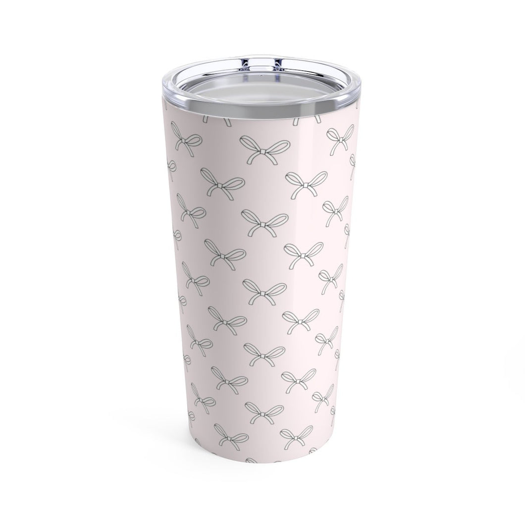 Pink Bows Coffee Tumbler 20oz - Planner Press Designs