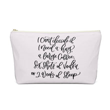 Load image into Gallery viewer, Tired Mondays Dark Skin Black Hair Accessory Pouch with T-bottom - Pencil Case