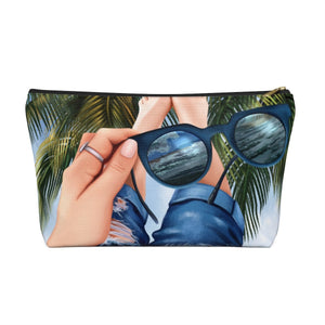 Beach Vibes Light Skin Accessory Pouch with T-bottom - Pencil Case - Planner Press Designs