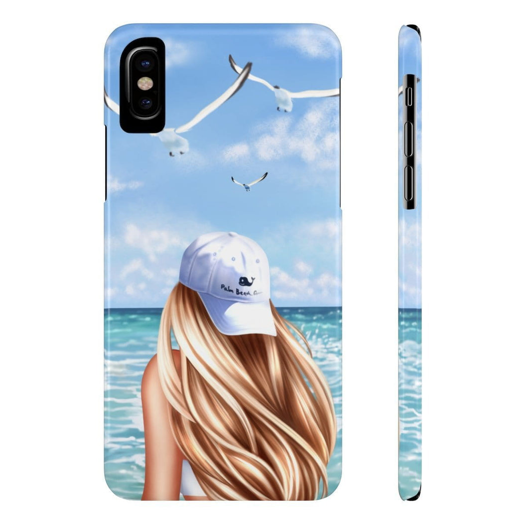 iPhone X Day At The Beach Light Skin Blonde Hair Case Mate Slim Phone Cases