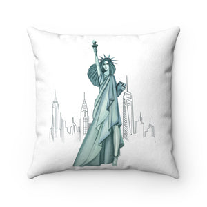 Pillowcase - In Fashion We Trust Faux Suede Square Pillow