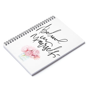 Peony Believe In Yourself Spiral Notebook - Ruled Line