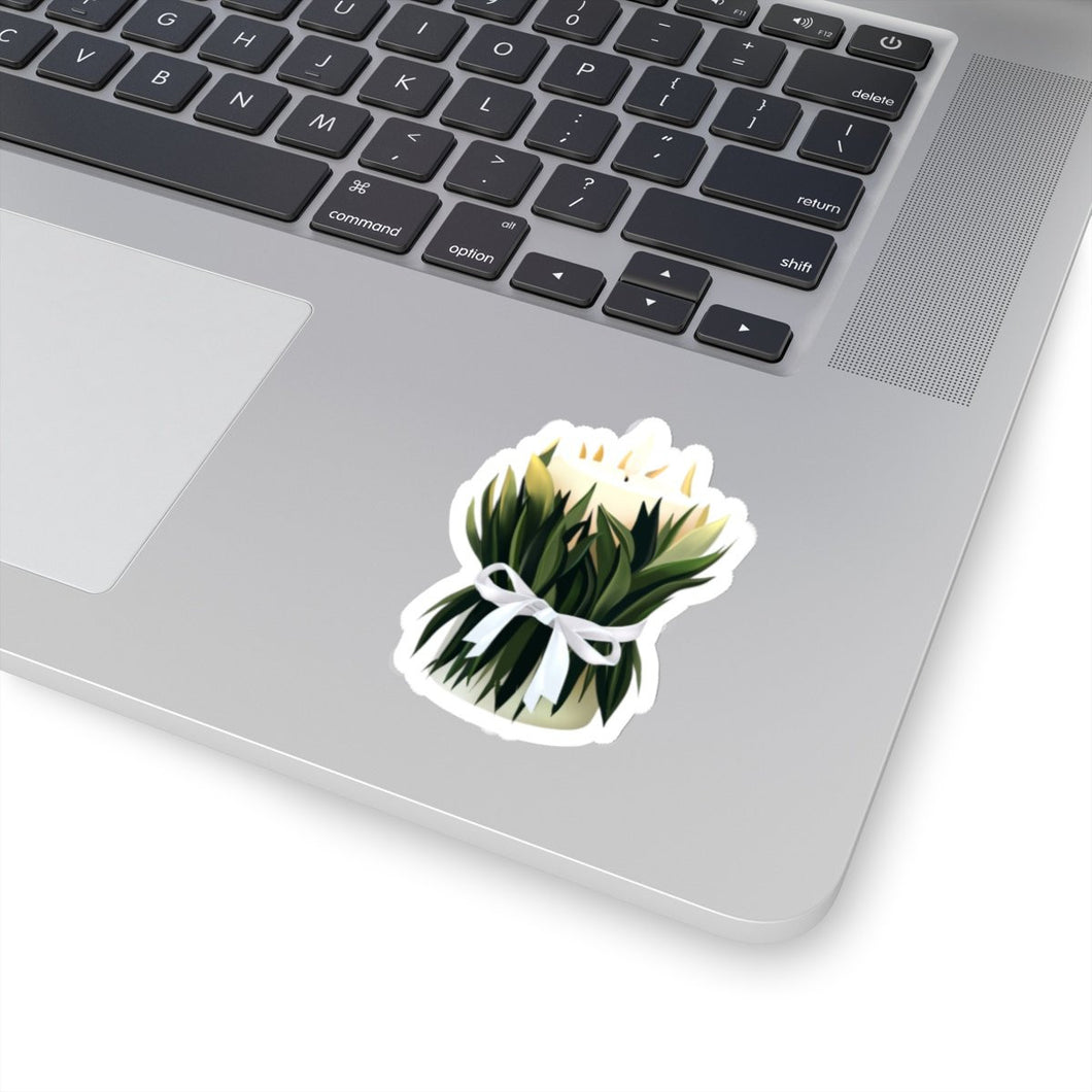 Spring Candle Vinyl Sticker Decal