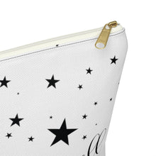 Load image into Gallery viewer, Galaxy Girl Dark Skin Purple Hair Accessory Pouch with T-bottom - Pencil Case