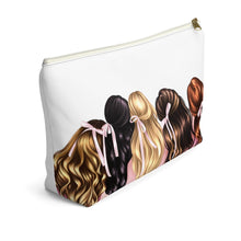 Load image into Gallery viewer, Friends Forever Accessory Pouch with T-bottom - Pencil Case