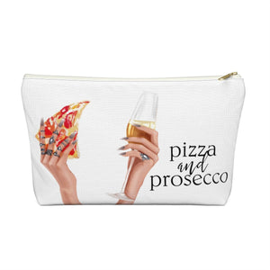 Pizza and Prosecco Accessory Pouch with T-bottom - Pencil Case