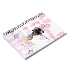Load image into Gallery viewer, Birthday Mornings Light Skin Black Hair Spiral Notebook - Ruled Line