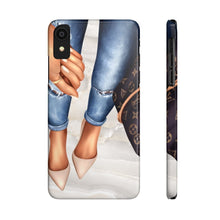 Load image into Gallery viewer, iPhone X A Girl and Her Bag Medium Skin Case Mate Slim Phone Cases