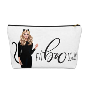 Halloween Cat Fabulous Light Skin Blonde Hair Accessory Pouch with T-bottom - Pencil Case
