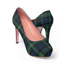 Load image into Gallery viewer, Winter Plaid Women's Platform Heels