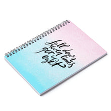 Load image into Gallery viewer, Ombre Motivational Spiral Notebook - Ruled Line