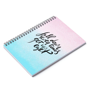 Ombre Motivational Spiral Notebook - Ruled Line