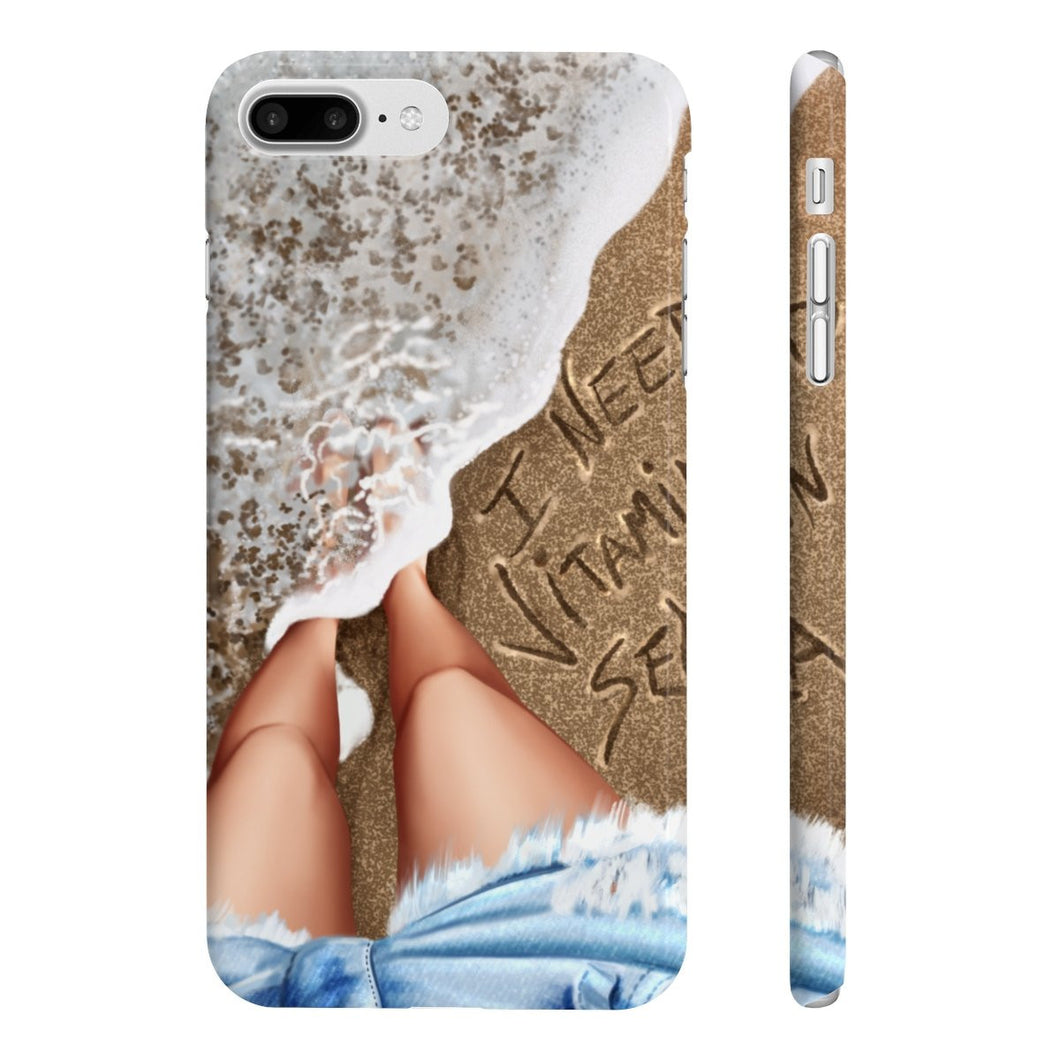 Vitamin Sea Light Skin iPhone Case - Protective Phone Cover
