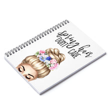 Load image into Gallery viewer, Spring Hair Light Skin Blonde Hair Spiral Notebook - Ruled Line