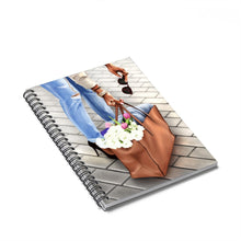 Load image into Gallery viewer, City Chic Market Day Dark Skin Spiral Notebook - Ruled Line