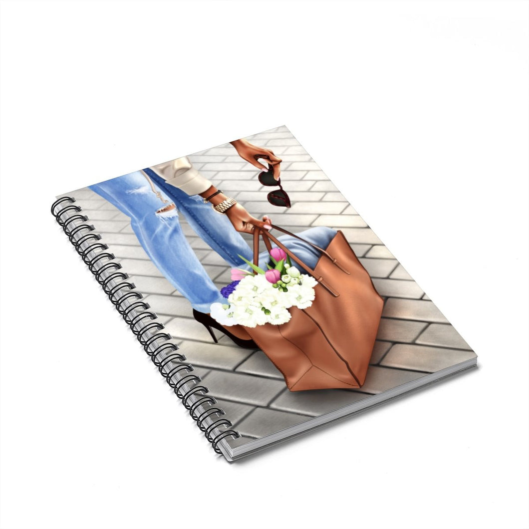 City Chic Market Day Dark Skin Spiral Notebook - Ruled Line