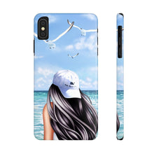 Load image into Gallery viewer, iPhone X Day At The Beach Light Skin Black Hair Case Mate Slim Phone Cases