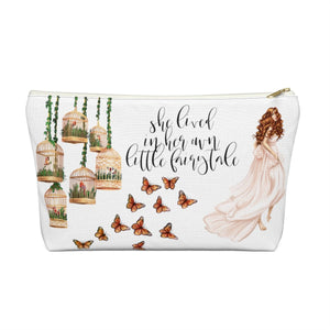 Fairytale Light Skin Red Hair Accessory Pouch with T-bottom - Pencil Case