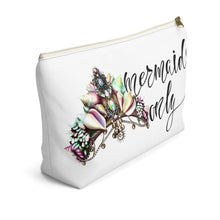 Load image into Gallery viewer, Mermaids Only Accessory Pouch with T-bottom - Pencil Case