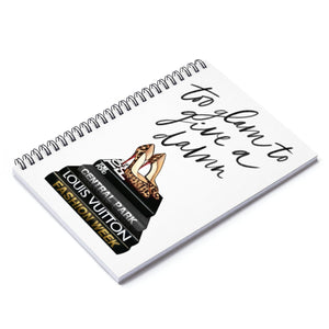 To Glam To Give A Damn Spiral Notebook - Ruled Line