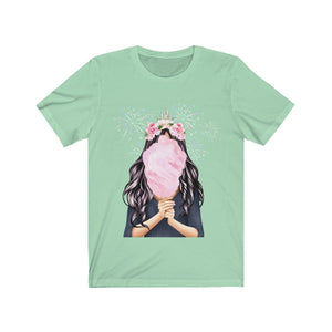 Cotton Candy Dreams Light Skin Black Hair Unisex Jersey Short Sleeve Tee - Planner Press Designs