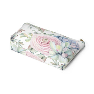 Succulents Accessory Pouch with T-bottom - Pencil Case