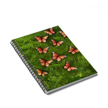 Load image into Gallery viewer, Monarch Butterfy Spiral Notebook - Ruled Line