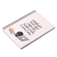 Load image into Gallery viewer, Tired Girl Boss Light Skin Black Hair Spiral Notebook - Ruled Line