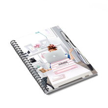 Load image into Gallery viewer, Girl Boss At Work Light Skin Red Hair Spiral Notebook - Ruled Line