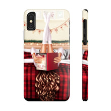 Load image into Gallery viewer, iPhone X Cozy Winter Reading Light Skin Brown Hair Case Mate Slim Phone Cases