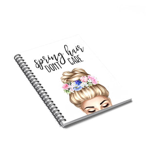 Spring Hair Light Skin Blonde Hair Spiral Notebook - Ruled Line