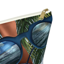 Load image into Gallery viewer, Beach Vibes Dark Skin Accessory Pouch with T-bottom - Pencil Case - Planner Press Designs