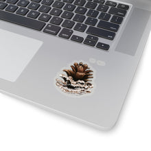 Load image into Gallery viewer, Snowy Winter Pine-cone  Vinyl Sticker Decal