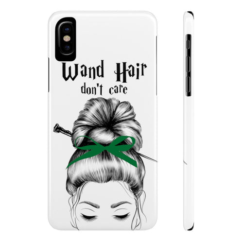 iPhone X Wand Hair Don't Care Green House Case Mate Slim Phone Cases