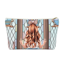Load image into Gallery viewer, Take Me To The Castle Light Skin Red Hair Accessory Pouch with T-bottom - Pencil Case
