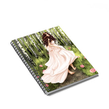 Load image into Gallery viewer, Forest Fiarytale Light Skin Brown Hair Spiral Notebook - Ruled Line - Planner Press Designs