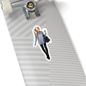 Walk In The Park Light Skin Blonde Hair Vinyl Sticker Decal