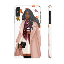 Load image into Gallery viewer, iPhone X Falling Leaves Dark Skin Black Hair Case Mate Slim Phone Cases