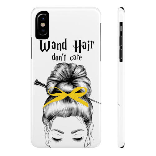 iPhone X Wand Hair Don't Care Yellow House Case Mate Slim Phone Cases