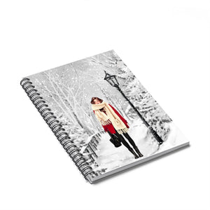 Winter Wonderland Light Skin Brown Hair Spiral Notebook - Ruled Line