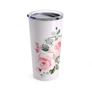 "Floral Inital ""J"" Tumbler 20oz - Planner Press Designs"