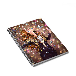 Party Time Light Skin Red Hair Spiral Notebook - Ruled Line