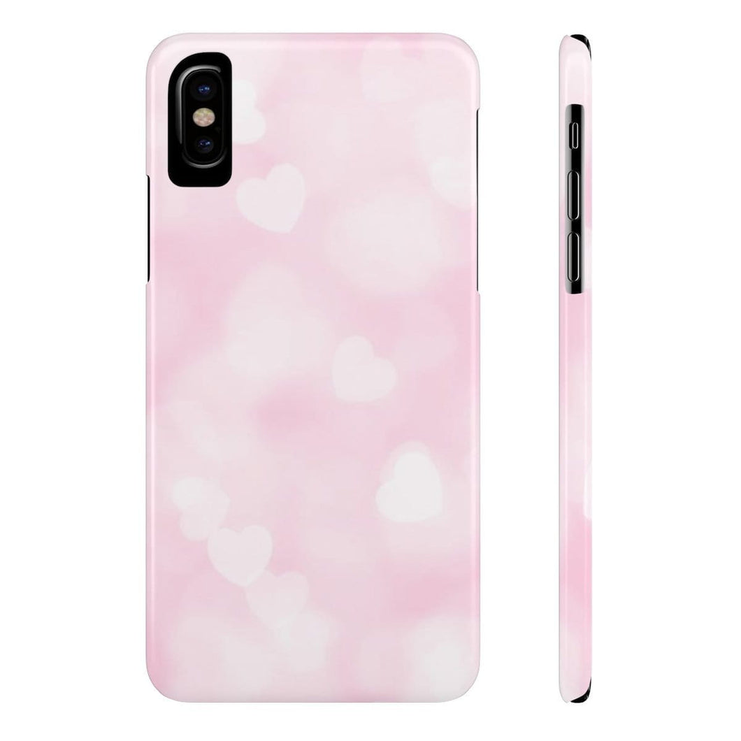 iPhone X Pink Hearts Case Mate Slim Phone Cases