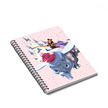 Load image into Gallery viewer, Soaring Medium Skin Brown Hair Spiral Notebook - Ruled Line
