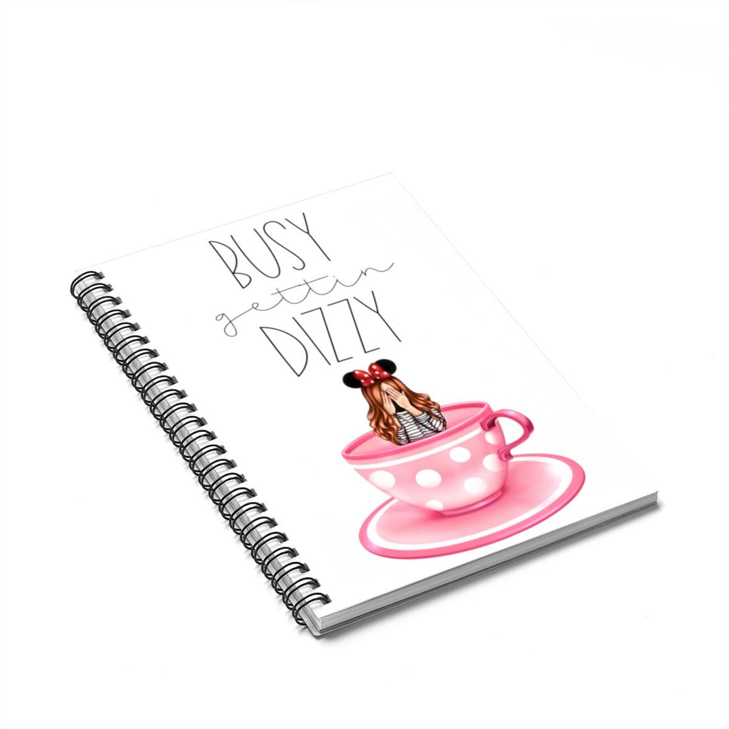 Dizzy Disney Light Skin Red Hair Spiral Notebook - Ruled Line