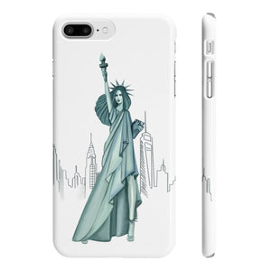 Lady Liberty iPhone Case - Protective Phone Cover - Planner Press Designs