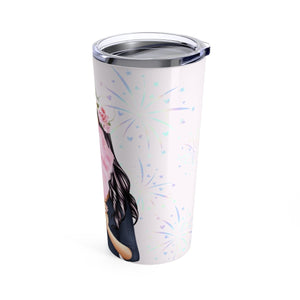 Cotton Candy Dream Light Skin Black Hair Coffee Tumbler - Planner Press Designs