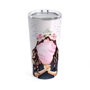 Cotton Candy Dream Disney Light Skin Brown Hair Coffee Tumbler - Planner Press Designs