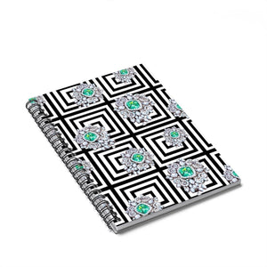 Gems & Jewels Spiral Notebook - Ruled Line - Planner Press Designs