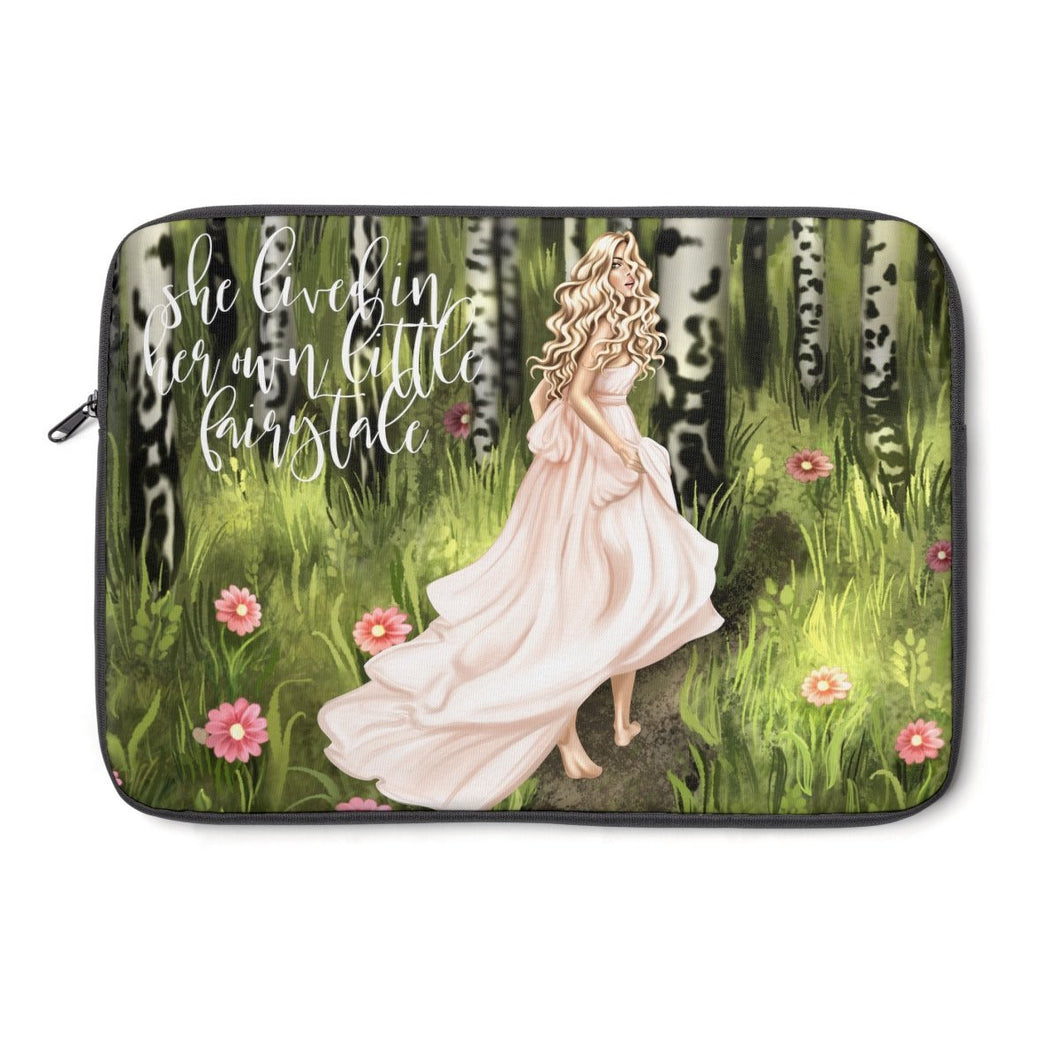 FairyTale Laptop Sleeve - Light Skin - Blonde Hair - Planner Press Designs